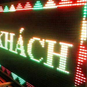 Bảng hiệu đèn led nhiều hiệu ứng tại công ty Sắc Kim