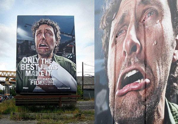 Bảng hiệu người đàn ông khóc - Nguồn ảnh Ad Of The World