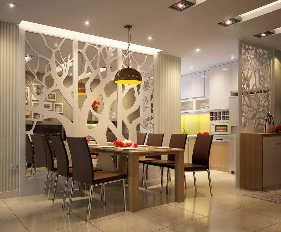 Cắt CNC vách ngăn gỗ và ván nhựa cao cấp trang trí nhà