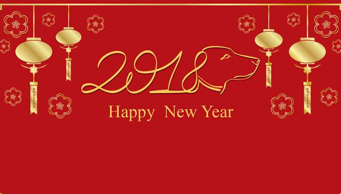 Băng rôn chúc mừng năm mới 2018 Vector