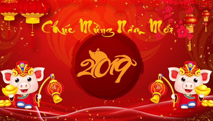 Băng rôn chúc mừng năm mới 2019 Vector