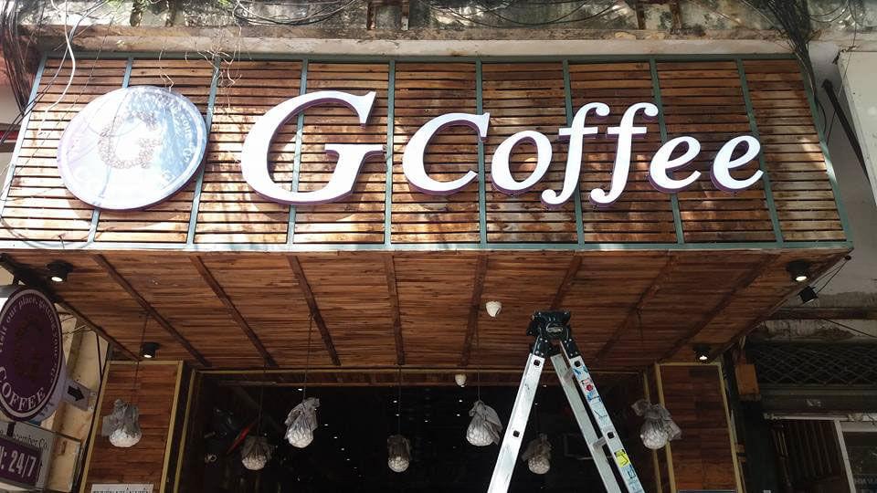 bảng hiệu coffe - mẫu 2