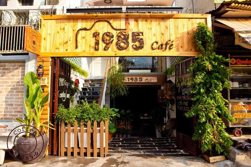 bảng hiệu quán cà phê gỗ - mẫu 1