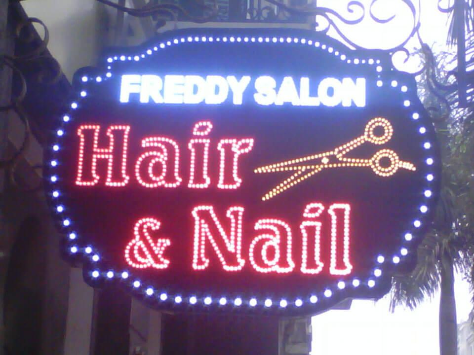 bảng hiệu salon tốc làm bằng đèn led - mẫu 1