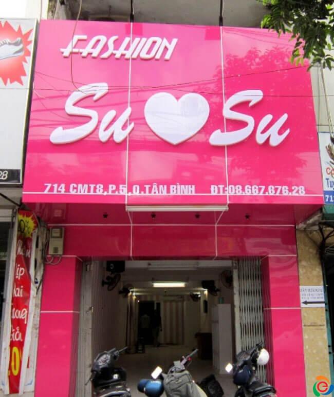 bảng hiệu shop thời trang dễ thương - mẫu 3