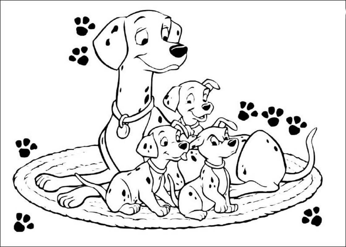 Chó mẹ và đàn con