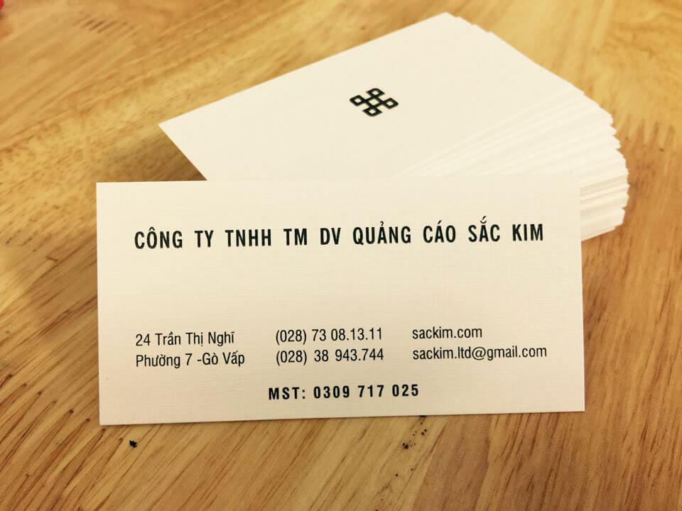 Name card là gì ? Địa điểm in card visit uy tín HCM