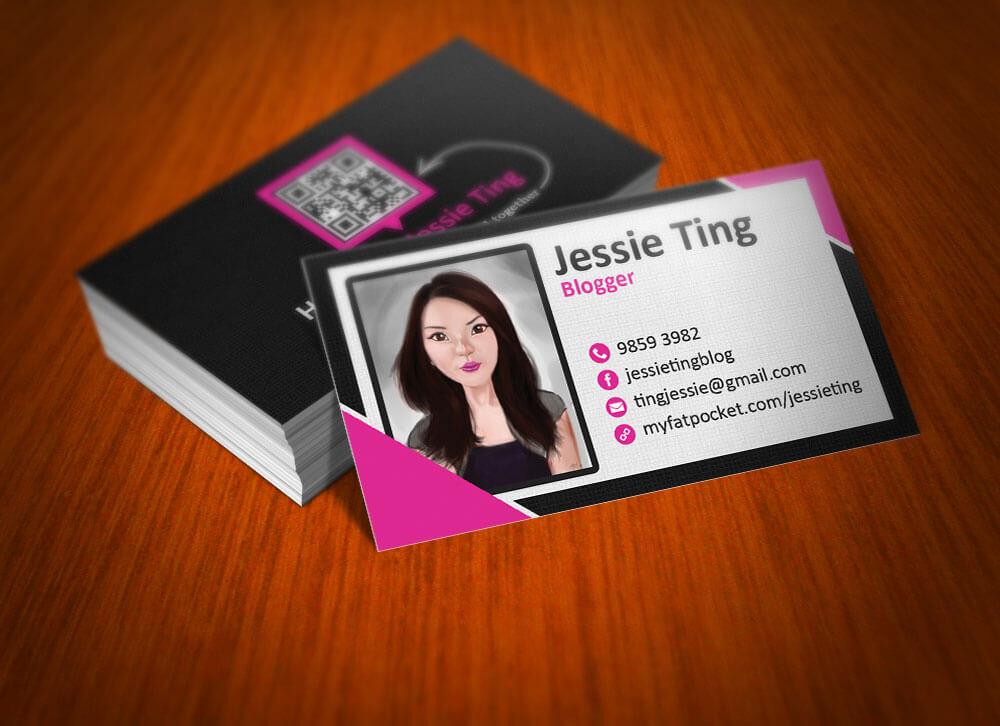 card được thiết kế theo hình chăn dung độc đáo