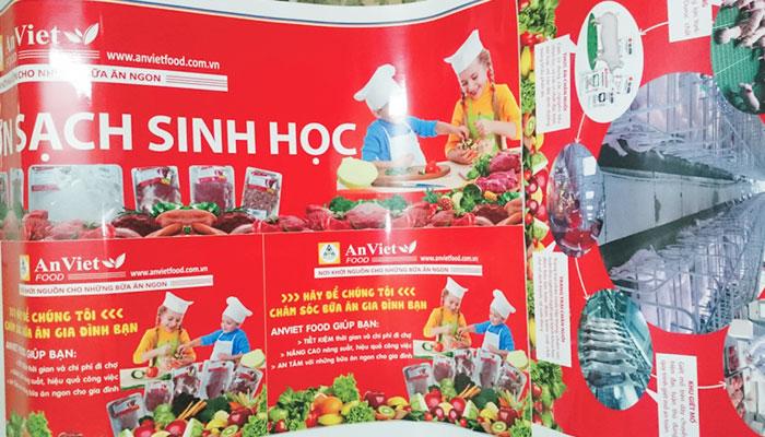 Mẫu poster lĩnh vực thức ăn chứa những thông tin cơ bản