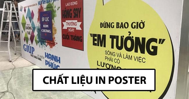Poster quảng cáo làm bằng chất liệu gì