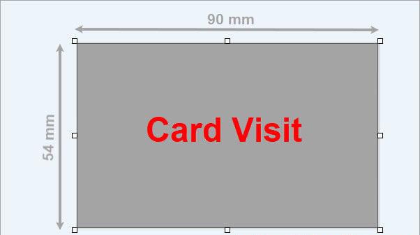 Kích thước chuẩn của card visit trên quốc tế