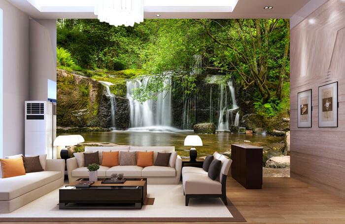 Tranh trang trí dán tường thiên nhiên sẽ giúp căn nhà của bạn luôn tươi mới và tràn đầy sức sống