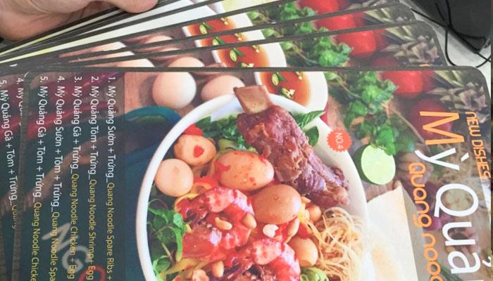 Mẫu in pp ngoài trời làm sổ menu bền đẹp tại Gò Vấp