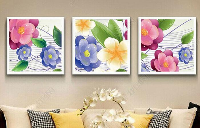 Bức tranh hoa lá mang đến sự tươi mới, thư giãn cho ngôi nhà của người tuổi Tý