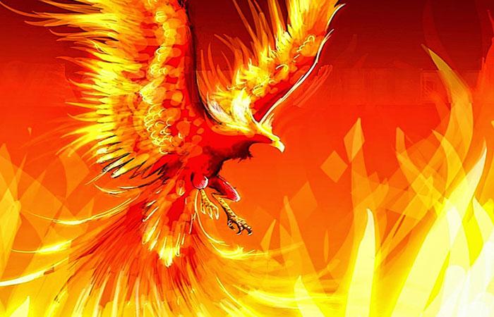 Sắc nâu trầm của con phượng hoàng lửa rất thịnh với người mệnh thổ