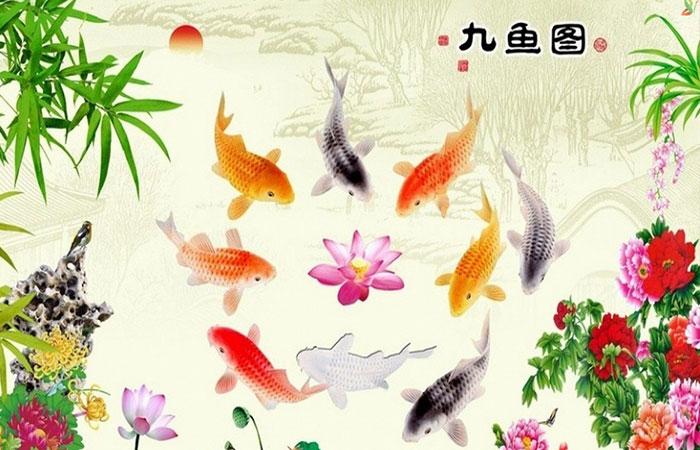 Tranh cá chép rất đẹp và phù hợp với người mệnh Thủy tuổi Tý