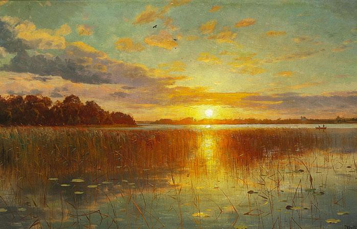 Tranh mặt trời mọc rất nghệ thuật và phù hợp với những người tuổi Sửu