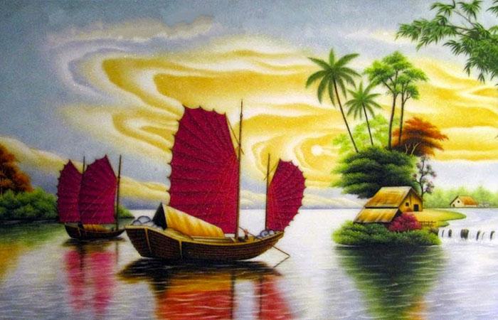 Tranh thuận buồm xuôi gió rất đẹp và mang đến nhiều ý nghĩa với người tuổi Tý