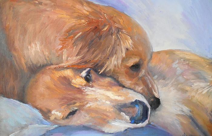 Những tranh có chủ đề chó sẽ thích hợp với những người tuổi Ngọ