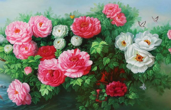 Tranh hoa mẫu đơn là loài hoa quý nhất ở Trung Quốc