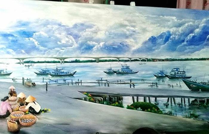Tranh thuyền và biển sẽ hỗ trợ cho người tuổi Dần làm ăn thuận buồm xuôi gió