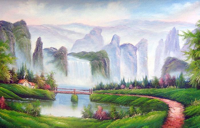 Tuổi Dần mệnh Thổ nên chọn những bức tranh vẽ về đồi núi, tường thành