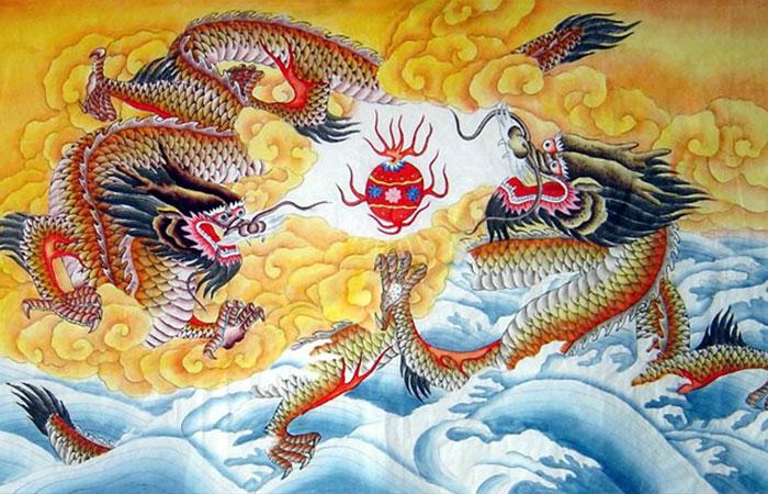 Treo tranh có hình rồng sẽ mang lại nhiều may mắn cho gia chủ tuổi Thân