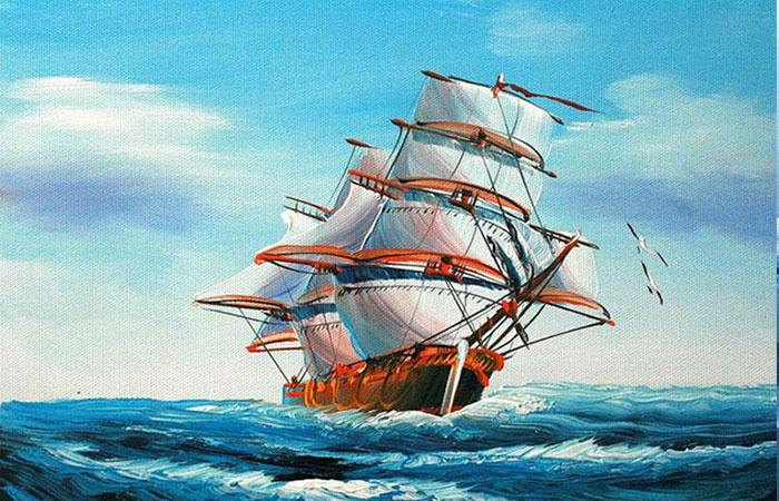 Tranh phong thủy treo tường thuận buồm xuôi gió